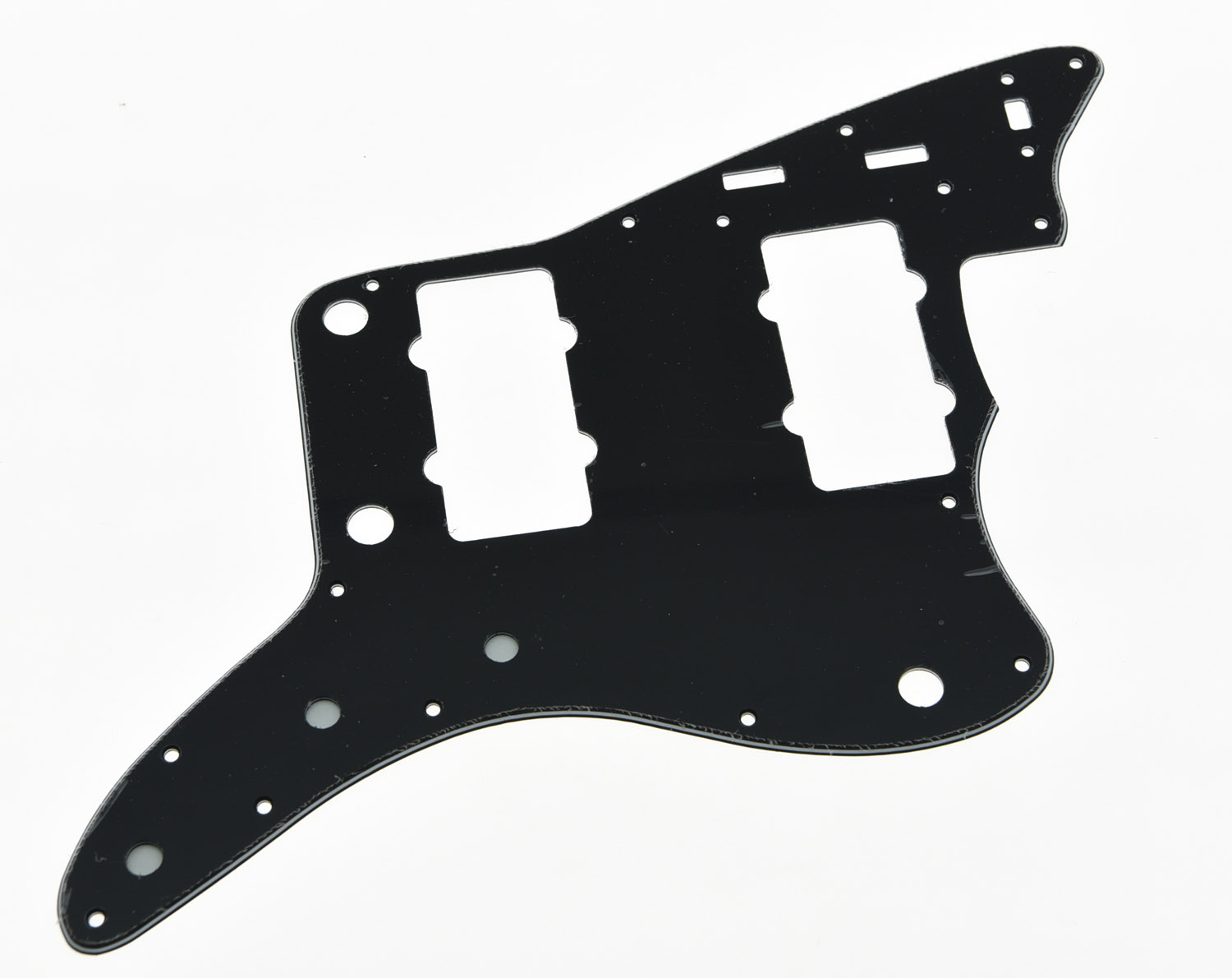 KAISH Black 3 Ply Guitar Pickguard Scratch Plate for American Jazzmaster kaish sg standard full face guitar pickguard scratch plate light cream with screws