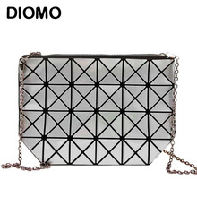 DIOMO Clutches Women Geometric Clutch Bag Women Messenger Bag Patchwork Laser Clutch Purse Bag Female Fashion Make Up Bags