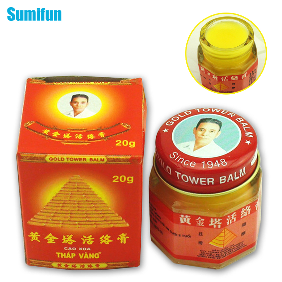 все цены на Pain Cream Vietnam Gold Tower Balm 20g/bottle Relieving Itching Muscle Joints Rheumatism Detumescence Ointment Active pain Cream
