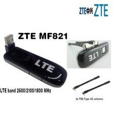 ZTE MF821 100Mbps 4G LTE FDD Modem 4G modem 4g usb mondem plus 2pcs 4g antenna