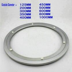 HQ H125 خارج ضياء 125 مللي متر (5 بوصة) هادئة الصلبة الألومنيوم الزجاج بدوره سطح الطاولة كسول سوزان تحمل طاولة طعام