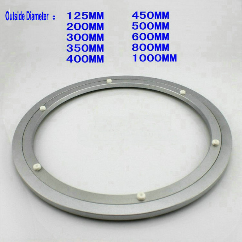 HQ H125 Out Dia 125MM (5 Inch) Quiet Solid Aluminium Glass Turn Table Top Lazy Susan Bearing Dining Table