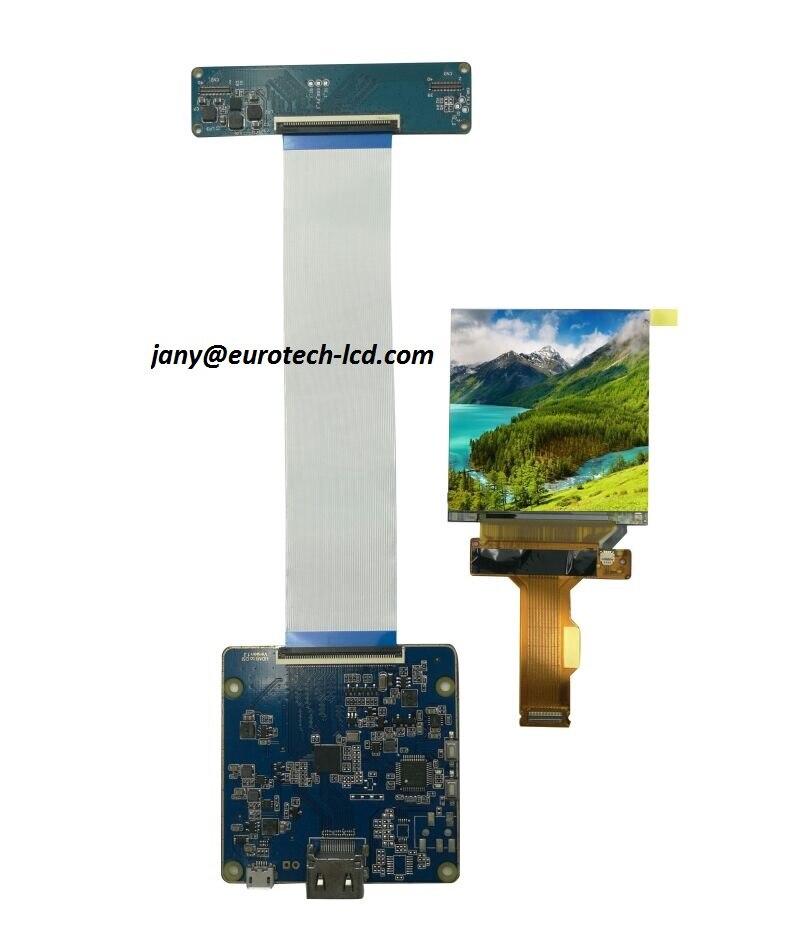 """Panneau d'affichage lcd 2.9 """"pouces 1440*1440 VR AR 2 K MIPI vers carte HDMI"""