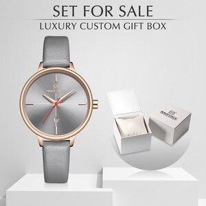 Image 1 - NAVIFORCE reloj de cuarzo para mujer, con caja, a la venta, sencillo, reloj de pulsera de regalo