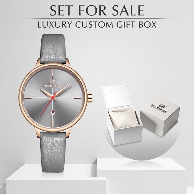 NAVIFORCE reloj de cuarzo para mujer, con caja, a la venta, sencillo, reloj de pulsera de regalo