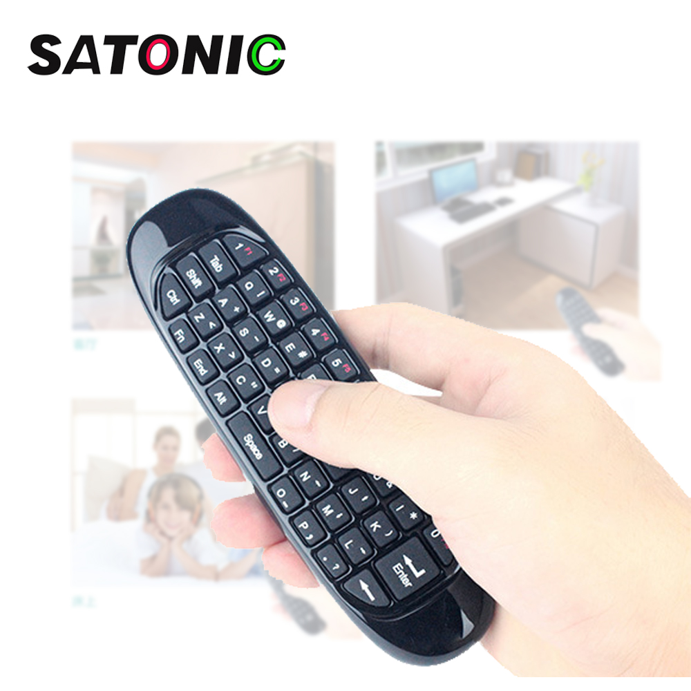 SATONIC C120 Fly Air Mouse Wireless TV BOX Keyboard 2.4G Smart Remote Controller for Android Windows MAC ...