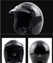 German Pure Carbon Fiber half face motorcycle helmet DOT approved light weight open face helmet цена в Москве и Питере
