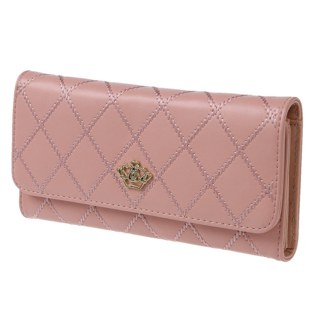 Fashion Sweet Elegant Women Lady Long Clutch Purse Bags Handbag Leather Card Holder Wallet Pink/Rose Red/Black/Blue/Purple Light рюкзак hama sweet owl pink blue
