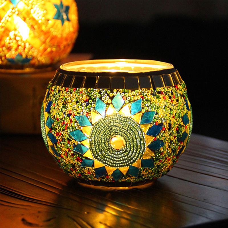 Candle Holders Home & Garden Enthusiastic Candle Lantern Centerpieces For Home Decorations Holiday Wedding Decoration Mosaic Glass Tealight Candle Holder 50xx216
