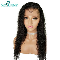 xcsunny 5x4.5 Silk Base Brazilian Full Lace Curly Wigs Human Hair With Baby Hair For Black Women Pre Plucked Free Part Remy Hair