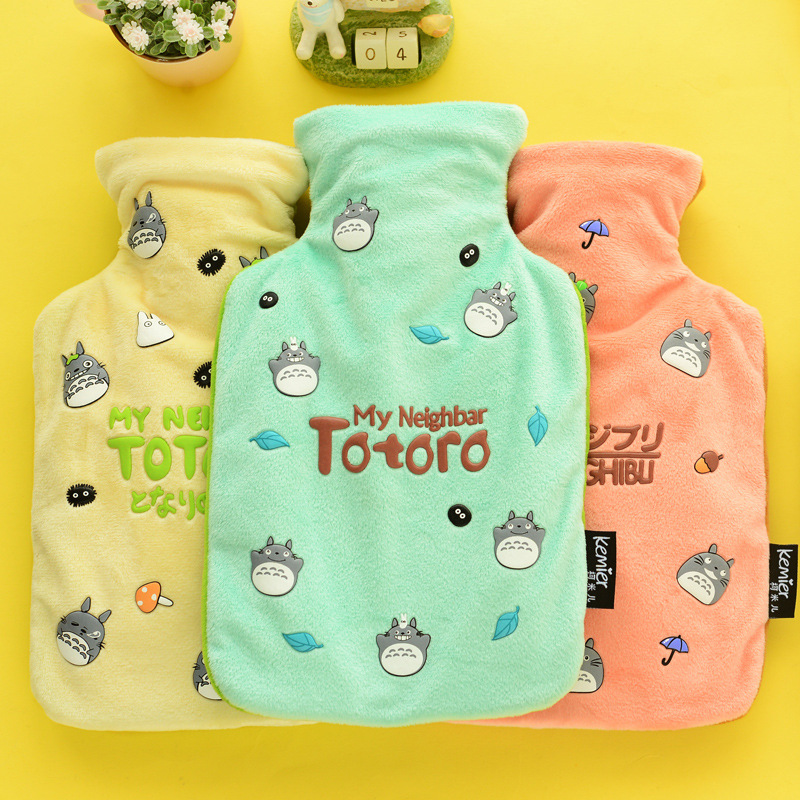 Creative Cute Cartoon Rabbit Hot Water Bottle Bag Safe And Reliable High-quality Rubber Washable Household Warm Items 26 * 17cm burumcuk
