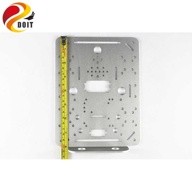 Металлическая панель Рамка для 4wd Автоцистерна шасси DIY RC игрушка робот автомобиль для Arduino и ESP8266 Nodemcu дистанционное управление