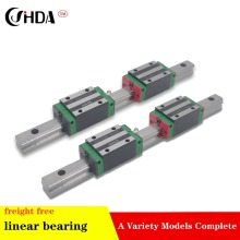 freight free 2Pcs Linear gude + 4Pcs  linear sliders  HGH25CA or HGW25CC standard CNC parts цена