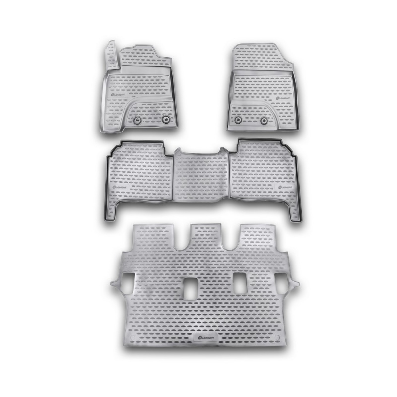 цена на Carpet mats interior For TOYOTA Land Cruiser 200, 2012-2015 4 PCs (polyurethane)