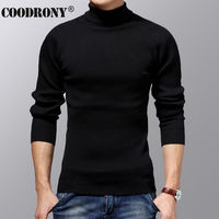 COODRONY Turtleneck Sweater Men Winter Thick Warm Wool Sweaters Christmas Knitted Cashmere Pullover Men Slim Fit