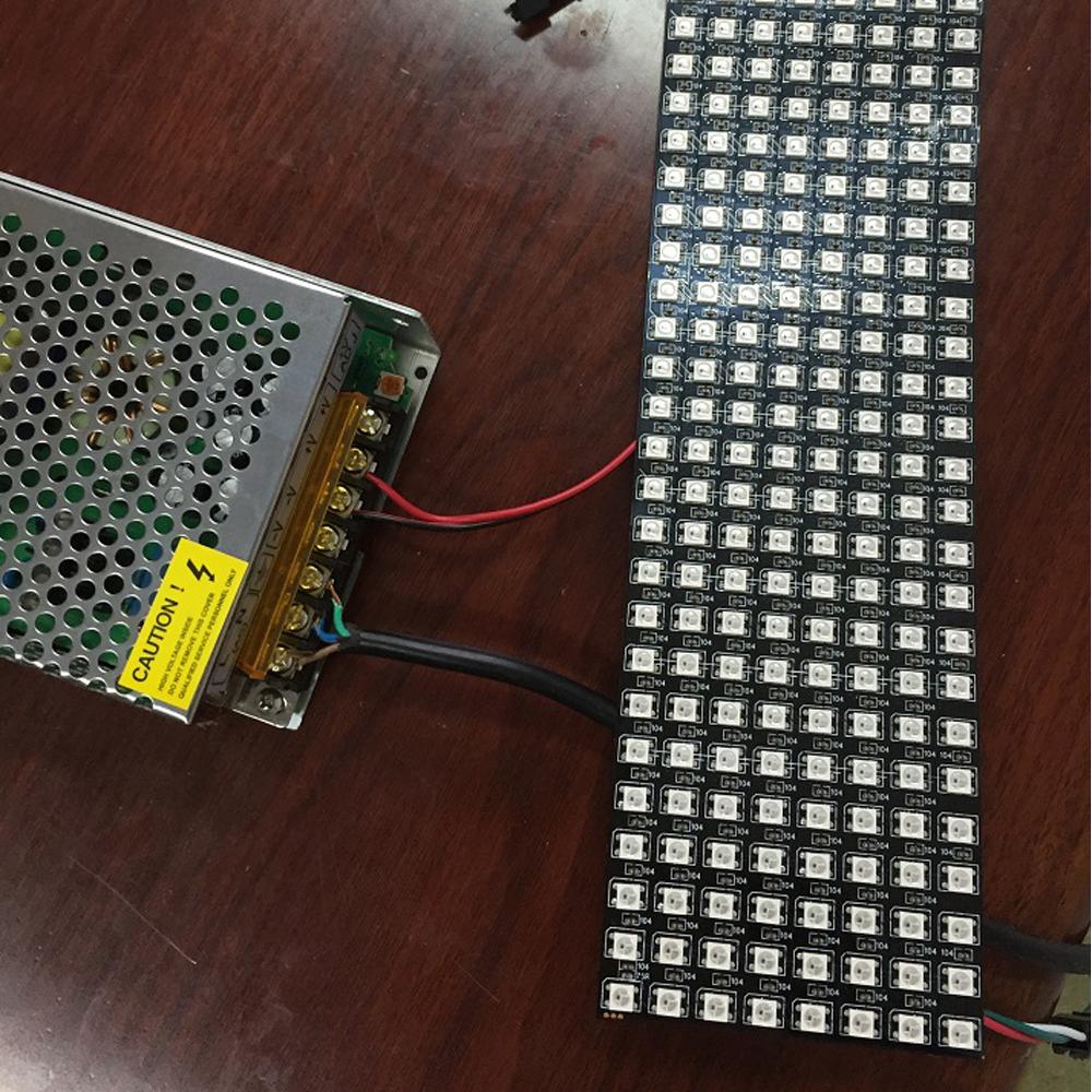 DIYmall WS2812 5050 8x32 RGB Flexible LED Panel Matrix Dream
