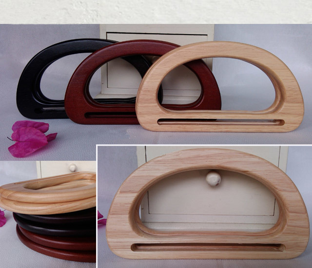5 Pairs=10 Pieces,17.3x9.5cm Solid Wood Purse Frame Tree Wood Hand Made Bags Handbags Handle,make Your Own Wood Bag Purse Handle