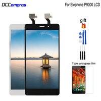 Elephone p9000 lcd 디스플레이 터치 스크린 원래 디지타이저 어셈블리 교체 elephone p9000d 무료 도구 유리 flim