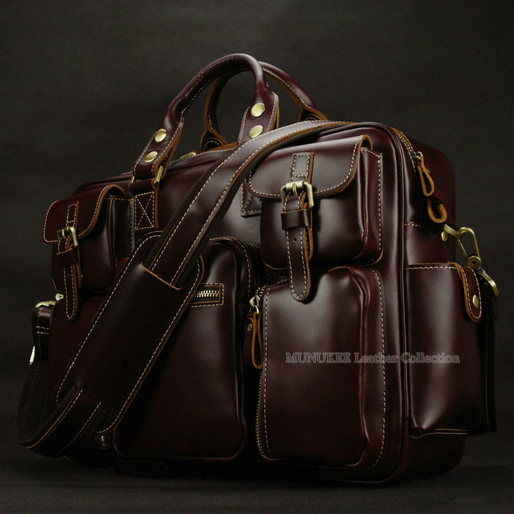 Aliexpress.com : Buy Luxury Genuine leather men travel bags ...