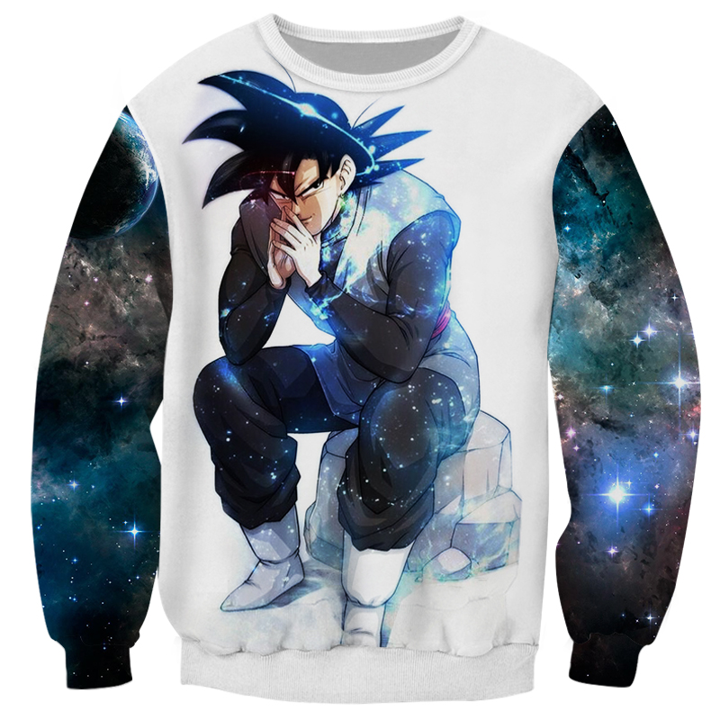 Cloudstyle Dragon Ball Super 3D Anime Sweatshirt Men Goku Ultra Instinct 3D Print Pullover Top Harajuku Streetwear Tracksuit 1