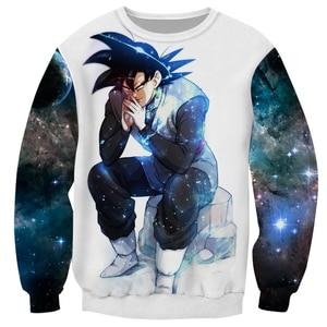 Cloudstyle Dragon Ball Super 3D Anime Sweatshirt Men Goku Ultra Instinct 3D Print Pullover Top Harajuku Streetwear Tracksuit(China)