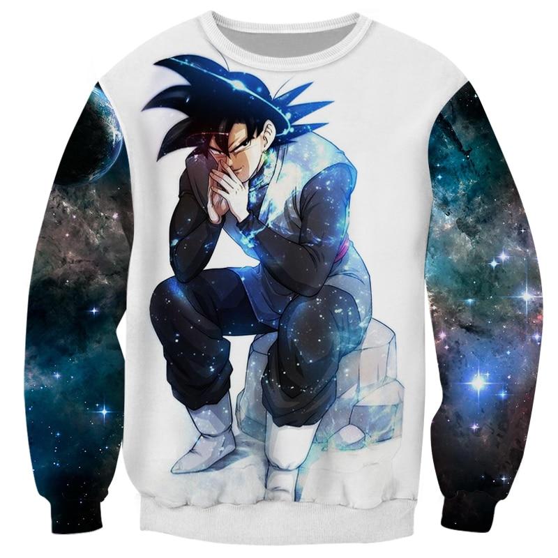 Cloudstyle Dragon Ball Super 3D Anime Sweatshirt Men Goku Ultra Instinct 3D Print Pullover Top Harajuku Streetwear Tracksuit