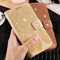 KISSCASE Для Samsung Galaxy S5 S6 S7 Edge/Плюс Флип кожаный Чехол Алмазный Стенд Wallet Чехол Цветочные Чехол Для Samsung J5 2015