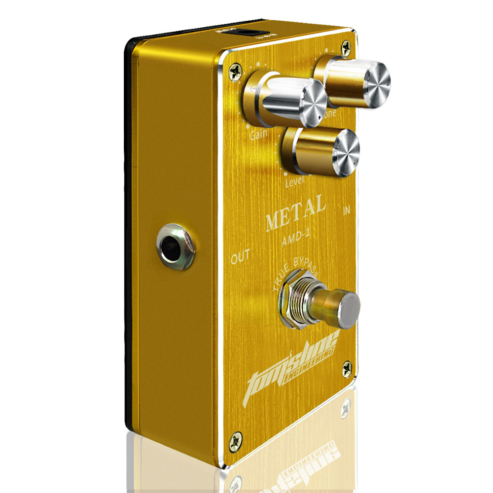 Aroma Metal Guitar Effect Pedal AMD-1 Fet Inside Lower Power Led Light Quiet IC Chip Premium Analogue True Bypass new aroma adr 3 dumbler dumble amp sound overdrive mini analogue effect true bypass