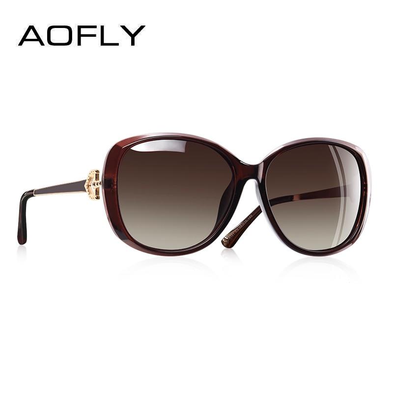 0cbbe28712a6d AOFLY BRAND DESIGN Luxury Women Polarized Sunglasses 2019 Lady Sun glasses  Female Rhinestone Temple Shades Eyewear