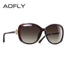 AOFLY BRAND DESIGN Luxury Women Polarized Sunglasses 2019 Lady Sun glasses Female Rhinestone Temple Shades Eyewear UV400 A151