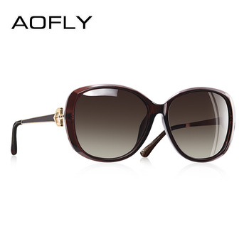 cd861fc771910 AOFLY diseño de marca de lujo de las mujeres gafas de sol polarizadas 2019 mujer  gafas de sol de mujer de diamantes de imitación templo tonos gafas UV400 ...