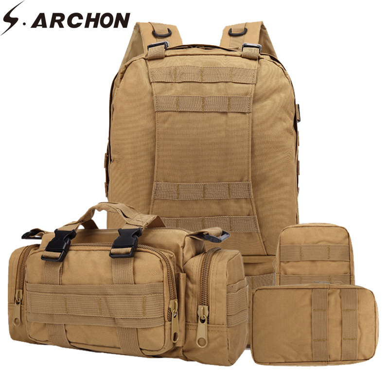 Nylon, Men, Removable, Backpack, Capacity, Military