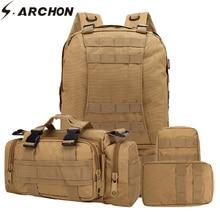 Купить с кэшбэком S.ARCHON Military Removable Camo Backpack Men Waterproof Army Travel Bags Nylon Large Capacity Military Equipment 55L Gear