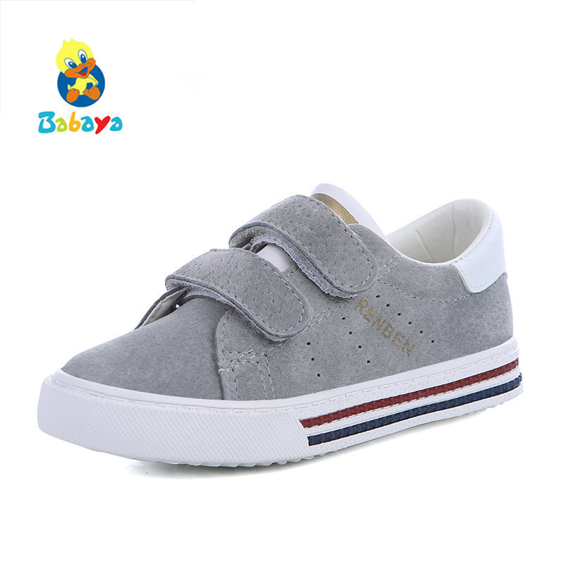 Children shoes girls sneakers Pig leather boys sports shoes 2017 new spring leather shoes boys kids shoes for girl fashion kids 2016 new brand children casual shoes fashion pu leather kids sports shoes lace up boys girls outdoor shoes