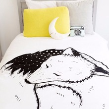 Cute Fox Printed Round Padded Cotton Swaddle Blanket