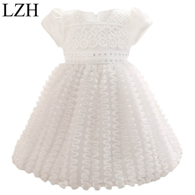 2016New Baby Girls Dress Birthday Party Christmas Dress For Girls Kid Wedding Tutu Dress Christening Dress Infant NewbornClothes