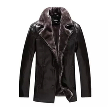 Free 2015 New Men's Brand informal winter fur leather-based lengthy coat informal leather-based clothes Sheepskin leather-based jacket plus measurement /L-4XL