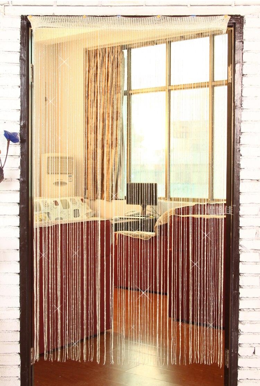 online shop 100*200cm shining silver yarn string curtains