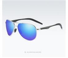 Óculos polarizados dos homens novos óculos de sol óculos de visão noturna motorista óculos de sol espelho de condução de alumínio e magnésio pernas A537