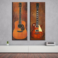 Diy diamond painting 2 piece music studio room guitar decorative wall paintings diamond mosaic embroidery