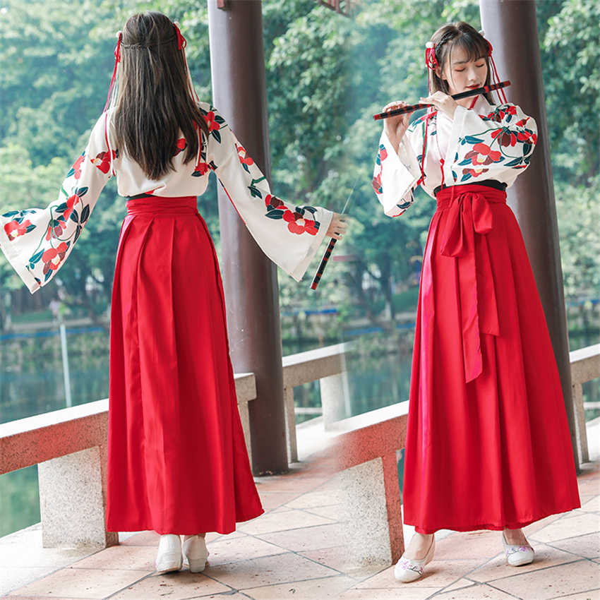 a8a11ece1a Woman Kawaii Japanese Kimono Dress Summer Floral Vintage Top Skirt Elegant  Oriental Chinese Style Party Photography Costumes
