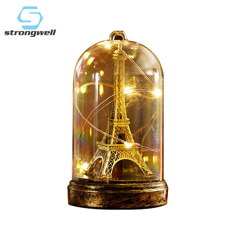 New Arrival Creative Paris Tower Light Display Students Room Decor Bar Cabinet Decoration Gift Lighting Crafts Props High Qualit