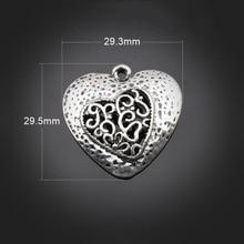 купить 50pcs Antique Bronze Charms Pendant -DIY Findings Necklace Bracelet Metal Fashion Bag Accessories 29.5X29.3mm дешево