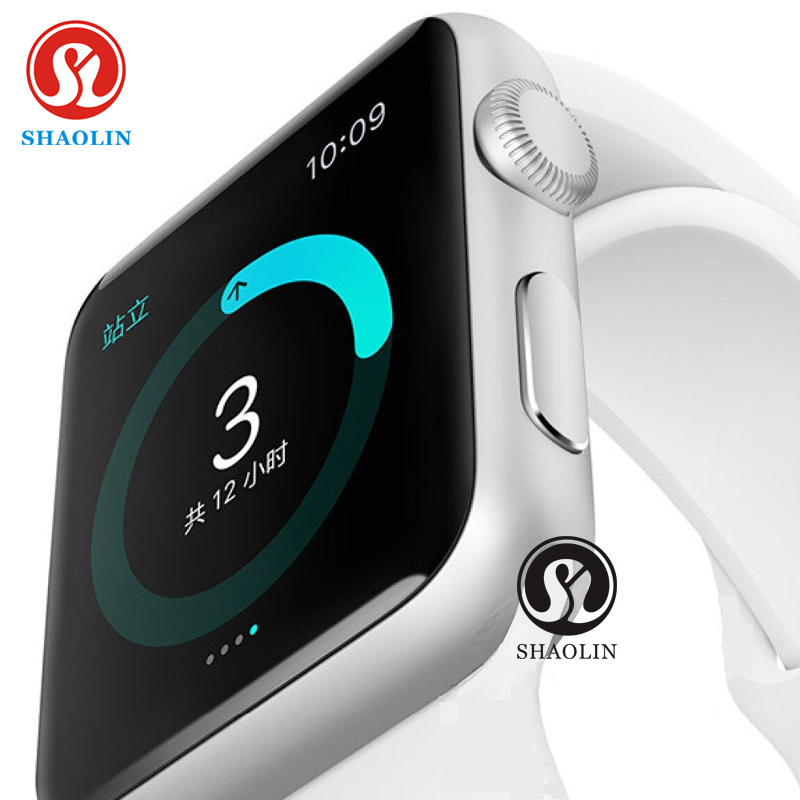 imágenes para Shaolin bluetooth smart watch 1:1 smartwatch para apple iphone ios android smartphones parece apple watch reloj inteligente