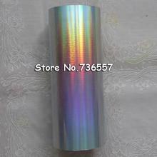 Голографическая фольга(2 рулона/Лот) простой серебряный Радужный светильник горячего тиснения на бумаге или пластике 16 см x 120 м