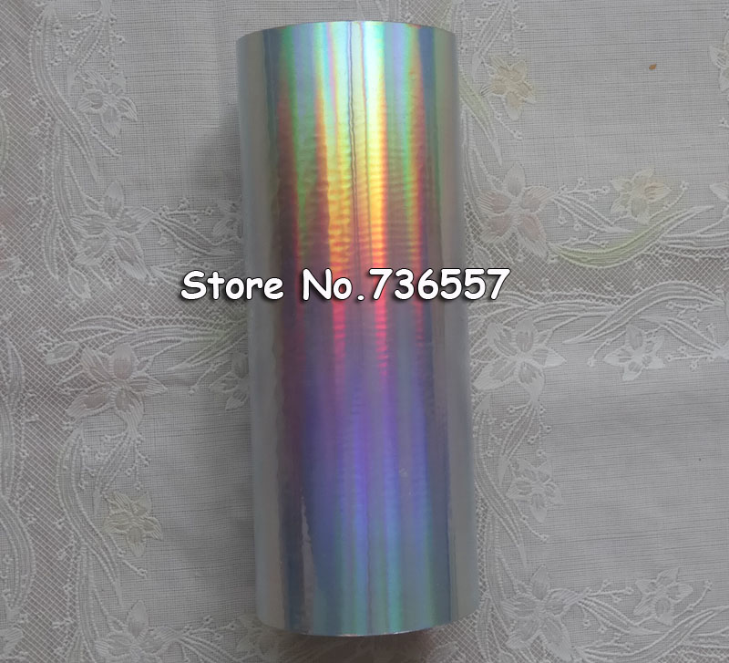 Holographic foil ( 2roll/lot ) plain silver color Rainbow light hot stamping on paper or plastic 16cm x 120mHolographic foil ( 2roll/lot ) plain silver color Rainbow light hot stamping on paper or plastic 16cm x 120m