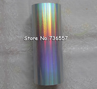 Holographic foil ( 2roll/lot ) plain silver color Rainbow light hot stamping on paper or plastic 16cm x 120m