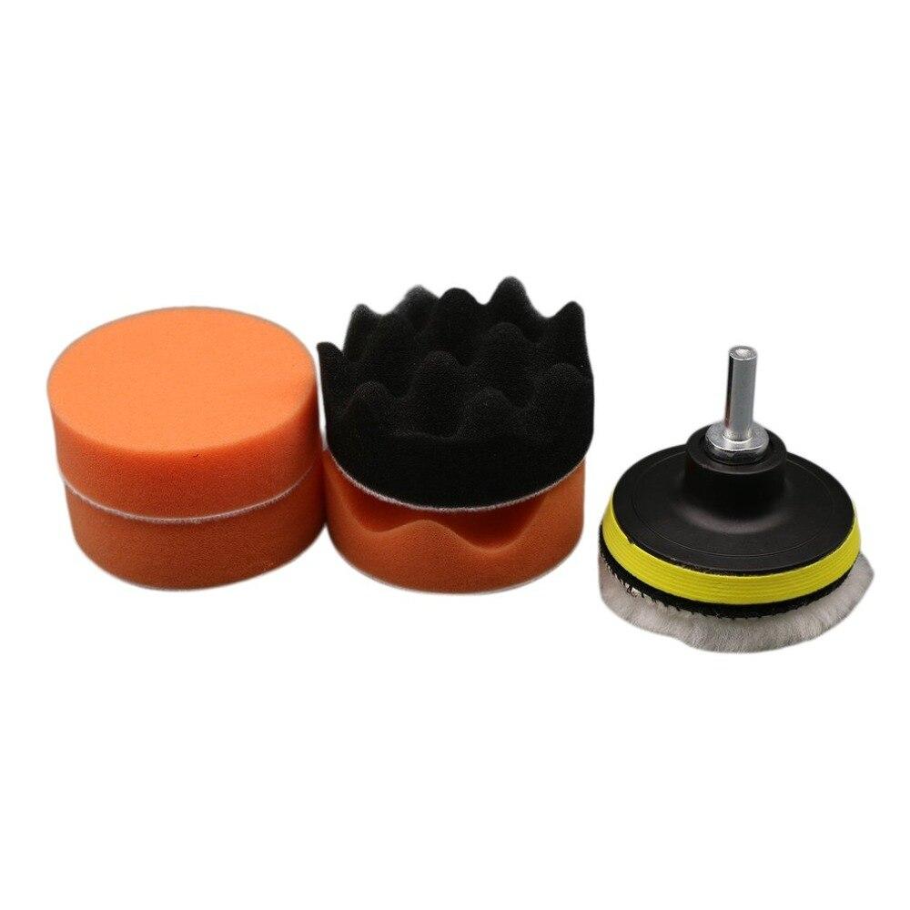 7 Stücke 4 Zoll Multifunktionale Welle Schwamm Auto Polieren Waxing Rad Set Kits Auto Styling Werkzeuge Poliert Wiederherstellung Auto Körper HüBsch Und Bunt