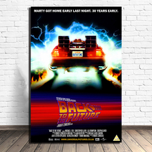 Back to the Future Time Travel Moments Poster Paintings On Canvas Modern Art Decorative Wall Pictures Home Decoration