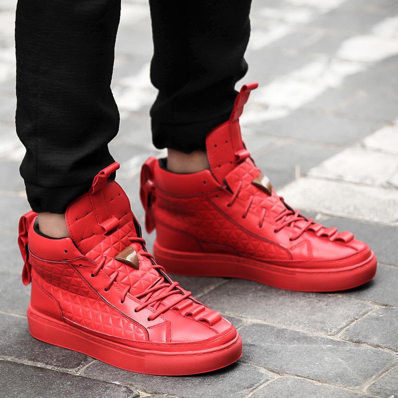Us 39 0 Gram Epos 2018 New Spring Autumn Men Red Black White Casual Shoes Men High Tops Fashion Shoes Zapatos De Hombre Male Botas In Men S Casual